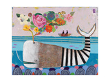 Spring Whale Giclee Print by Nathaniel Mather
