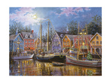 Ships Aglow Giclee Print by Nicky Boehme