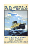 P. and O. Australia Via the Cape Giclee Print