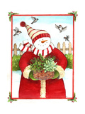 Snowman Gift Basket Giclee Print by Melinda Hipsher