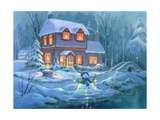Snowy Bright Night Giclee Print by Michael R. Humphries