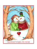 Snowman Tree Heart Share Giclee Print by Melinda Hipsher