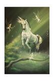 Unicorn Dances Giclee Print by Sue Clyne