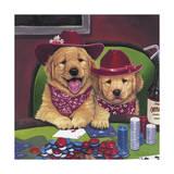 Poker Dogs Giclee Print by Jenny Newland