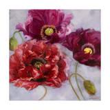 Purple Poppies II Giclee Print by li bo