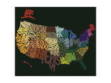 States of text Giclee Print
