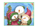 Snowman with Bluebird Giclee Print by Melinda Hipsher