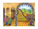 Terrace Garden Giclee Print by Bonnie B. Cook