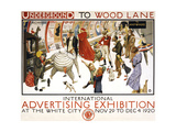 Underground to Wood Lane Giclee Print