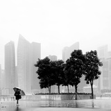 Singapore Umbrella Photographic Print by Nina Papiorek