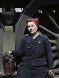 Railroad Wiper at Roundhouse, Clinton, Iowa Photographic Print