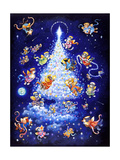 The Star Tree - Rectangle Giclee Print by Bill Bell