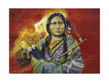 Sitting Bull Peace Pipe Visions Giclee Print by Sue Clyne