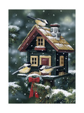 Winter Birdhouse Giclee Print by William Vanderdasson