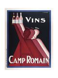 Vini Camp Romain Stampa giclée