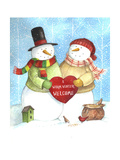 Warm Welcome Snowman Giclee Print by Melinda Hipsher