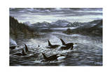 Whales Giclee Print by Jeff Tift