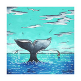 Whale Tail - Better Giclee Print by Megan Aroon Duncanson