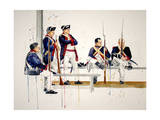 Williamsburg Soldiers Giclee Print by Laurin McCracken