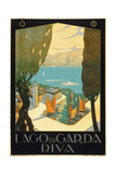 Wharf on Lake Garda Italy Giclee Print