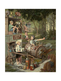 The Barnstormers Giclee Print by Bob Byerley