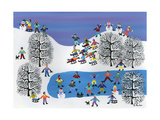 Winter Fun on Pine Hills Giclee Print by Gordon Barker