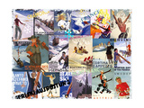 Ski Vacation Collage Giclee Print
