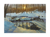 Winter Brook Sunset Giclee Print by Bruce Dumas