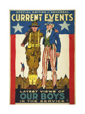 Special Edition of Universal Current Events Latest Views of our Boys in the Service Giclee Print