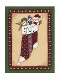 Stocking V Joy Giclee Print by Debbie McMaster
