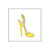 Yellow High Heeled Shoe Giclee Print