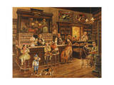Turn of the Century Drug Store Giclee Print by Lee Dubin