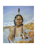 Sitting Bull Giclee Print by Sue Clyne