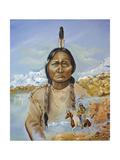 Sitting Bull Giclee Print by Sue Clyne