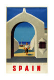 Spain Fisherman Giclee Print