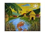 Village Giclee Print by Oscar Ortiz