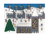 The Church of Winter Town Giclee Print by Gordon Barker