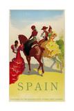 Spain Horses Giclee Print