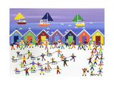 Winter Beach Parade Giclee Print by Gordon Barker