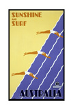 Sunshine and Surf Australia Giclée-Druck