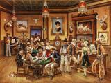 Western Saloon Giclée-Druck von Lee Dubin