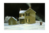 Warming Barrel Giclee Print by Jerry Cable