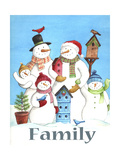 Snow family Giclee Print by Melinda Hipsher
