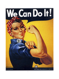 We Can Do It Giclée-trykk