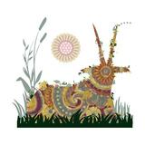 Sleeping Horn Giclee Print by Teofilo Olivieri