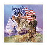 The Armed Forces Giclee Print by Hal Frenck