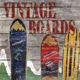 Vintage boards I Giclee Print by Karen Williams