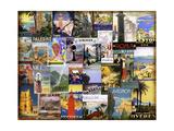 World City Tour Collage Wydruk giclee
