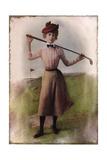 Vintage Lady Golfer Giclee Print
