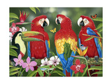Tropical Friends Giclee Print by William Vanderdasson
